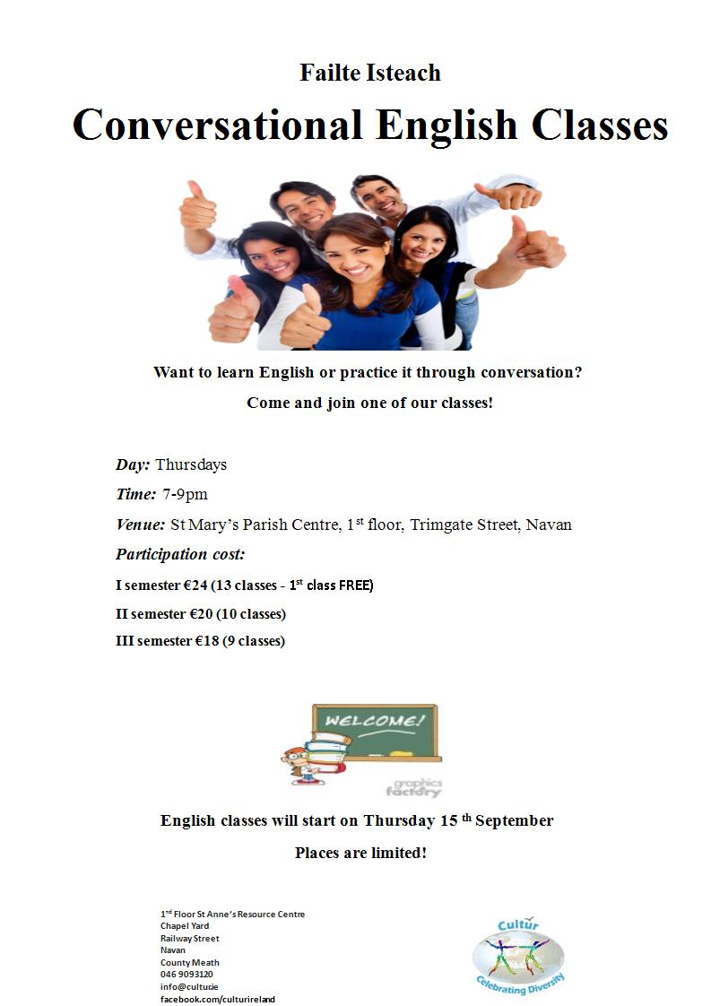 Conversational English Classes - September 2016
