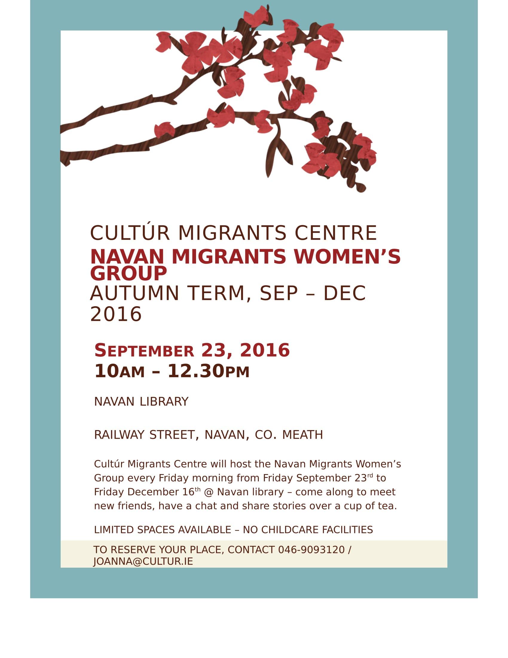 Navan Migrants Women's Group - September 2016